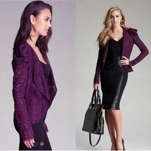BeBe Deep Purple Lace Blazer